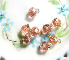 509 Vintage Rose Swarovski Drops Beads Dangle Charms Faceted Connector NOS