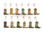 Western Boot Keychain Cowboy Gift Assorted Styles Hand Painted