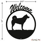 Alaskan Malamute Black Metal Welcome Sign NEW
