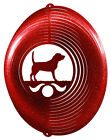 Beagle Dog RED Metal Swirly Sphere Wind Spinner NEW