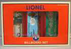 LIONEL CHRISTMAS BILLBOARD SET FASTRACK (3) train scenery holiday nyc 6-35295