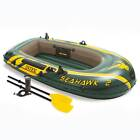 Intex Seahawk 2 Inflatable 2 Person Floating Boat Raft Set with Oars