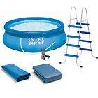 Intex 15 x 48 Easy Set Swimming Pool Kit w 1000 GPH GFCI Filter Pump 26167EH
