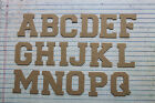 VARSITY style uppercase alphabet bare chipboard 26 letters total