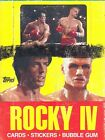ROCKY IV 4 THE MOVIE 1985 TOPPS WAX TRADING CARD BOX SYLVESTER STALLONE