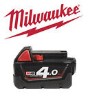 MILWAUKEE 18v 4.0Ah Red-Lithium/Li-Ion Cordless Battery, Fits Drills 4932430063
