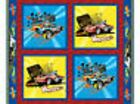 Quilting Treasures Hot Wheels 74675R Pillow Panel Cotton Fabric FREE US SHIPPING