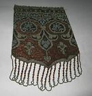 Antique Micro Beaded Drawstring Purse Bag Bronze Design