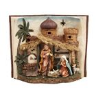 Nativity Inspiration Holy Family Figurine Statue with LED Light Birth of Jesus