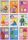 THE SIMPSONS SERIES 1 1993 SKYBOX COMPLETE BASE CARD SET OF 80 AND TATTOOS OF 10