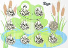 NEW 10 TIBET SILVER FROG ON LILLY PAD CHARMS PENDANTS WOW