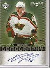 Marian Gaborik Upper Deck Black Diamond Gemography Autograph Wild Blue Jackets
