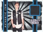 JUSTIN BIEBER 2.0 2011 PANINI EVENT WORN JET BLACK PANTS COSTUME CARD I3
