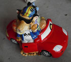 Cool Fitz & Floyd Ceramic Fun Funds Cat in Car Bank 6