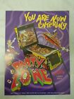 Original Bally The Party Zone Pinball Advertising Flyer