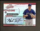 2002 PLAYOFF ABSOLUTE MEMORABILIA ABSOLUTELY INK MARK TEIXEIRA AUTO