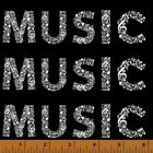 Windham Let There be Music 38990 1 Black Words BTY Cotton Fabric FREE US SHIP