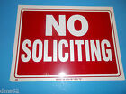 NEW FORESTER RED  WHITE NO SOLICITING PLASTIC SIGN FREE SHIPPING