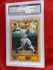 MIKE DIAZ HAND SIGNED 1987 TOPPS TIFFANY ROOKIE CARD PSA ENCAPSULATED