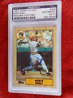 MIKE DIAZ HAND SIGNED 1987 TOPPS TIFFANY ROOKIE CARD PSA ENCAPSULATED #2
