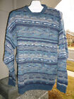 Arnold Palmer Blue & Gray Textured Pullover Sweater Sz 52  or L  Made in Italy