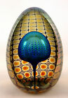 Tom Philabaum's Blue w/Gold Reptilian Egg Paperweight!!