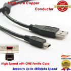 6ft 2.0 Mini USB Charger Cable Cord For Sony PS3 Controller, 100% Pure Copper