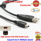3x 6ft 2.0 Mini USB Charger Cable Cord For Sony PS3 Controller, 100% Pure Copper