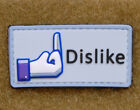 3D PVC Facebook Dislike velcro morale patch Army Military FREE SHIPPING