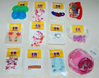 Lot J NEW Hair Accessories 12 pkgs barrettes, ponytail holders; kid child styles