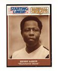 1989 STARTING LINEUP BRAVES HANK AARON   BASEBALL GREATS CARD
