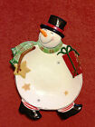 """""""HOLIDAY WISHES"""" CANAPÉ PLATE BY FITZ & FLOYD"""