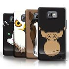 STUFF4 Phone Case/Back Cover for Samsung Galaxy S2/SII /Animal Faces