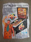 Williams - The Flintstones Pinball Advertising Flyer