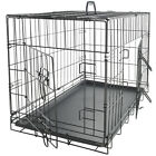 48 Dog Crate Double Door w Divider w Tray Folding Heavy Duty Metal Pet Cage XXL