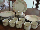 FITZ AND FLOYD COTILLION 8 DINNER PLATES, 2 BOWLS, 8 CUPS, 8 SAUCERS