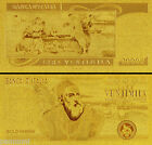 ITALY 20 000 Lire Gold Banknote Plated With 24K Gold With COA *NEW