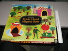 ROBIN HOOD Pressman 1950s tin toy target cartoon game MIB playset baseball