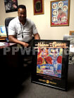 LARRY HOLMES GERRY COONEY 1982 LEROY NEIMAN SIGNED POSTER FRAMED WITH PIC PROOF