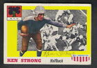 Autographed Ken Strong (D.1979) 1955 Topps All American Card #24 New York Giants
