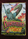 Vintage 1988 Topps DINOSAURS ATTACK Full Wax Box Statue of Liberty