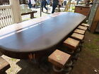 c1910-20 9' L oval Quartersawn oak conference table GREAT display potential 42