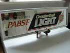 Pabst Light beer advertising co 20yr old sign mancave 1992 glass store bar sign
