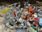 !!! VERY RARE !!! 10 UNIQUE PAINTED KNIGHTS AND 1  HORSE - FOR TIMPO-TOYS !!!
