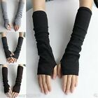 Ladies Womens Winter Warm Knitted Soft Arm Warm Long Sleeve Fingerless Gloves
