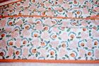 11 YDS ORANGE,WHITE,GREEN FABRIC Rag Rug 3 1/2