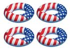 Swimline 36 Inflatable American Flag Swimming Pool and Lake Tube Float 4 Pack