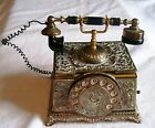 ANTIQUE BRASS MUSIC / TRINKET BOX LOOKS LIKE DIALTELPHONE FROM JAPAN,COLLECTIBLE