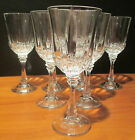 Crystal Optic Paneled Set of 7 Heavy Water Goblets 8