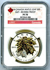 2014 $5 CANADA SILVER MAPLE LEAF GILT GOLD NGC PF70 UCAM REVERSE PROOF 1 OZ